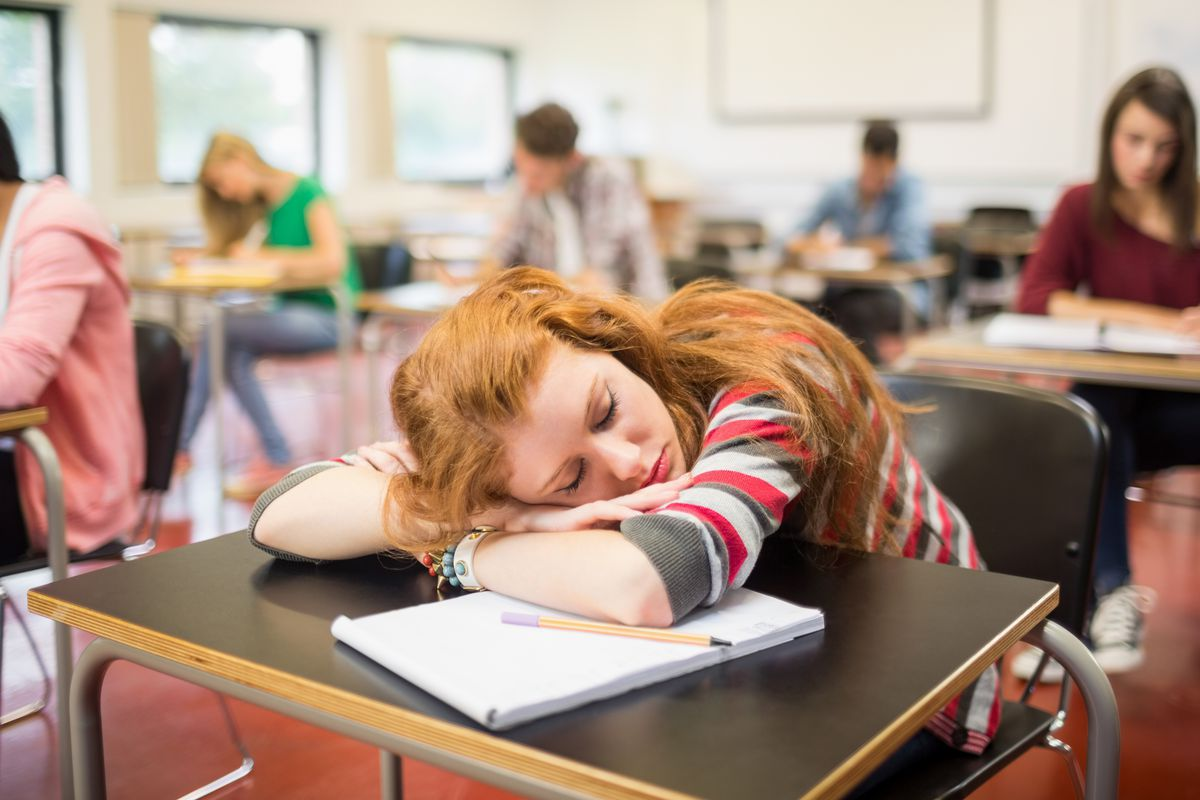 High schools start so early that it's hard for kids to get enough sleep.