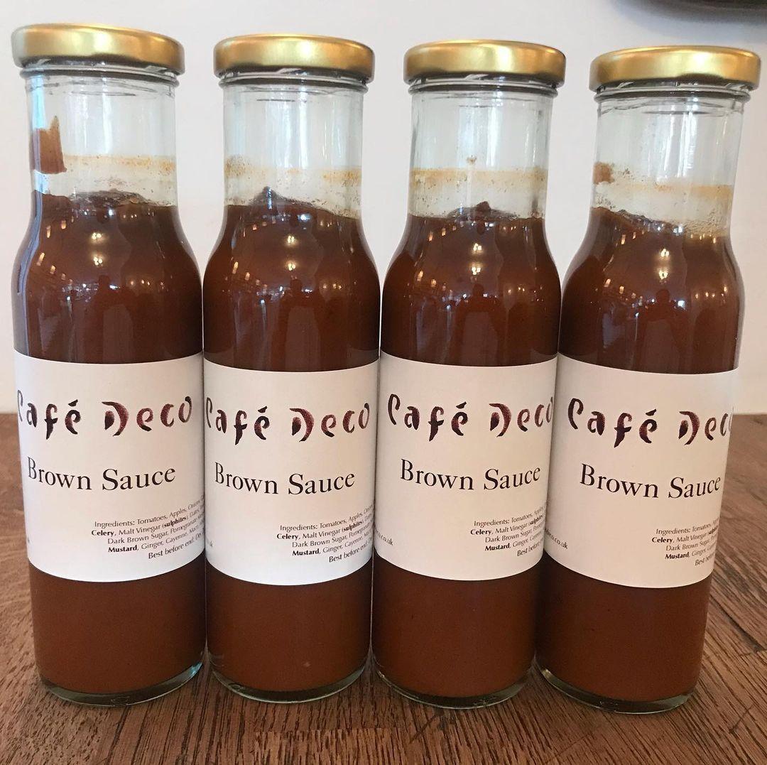 Cafe Deco's brown sauce