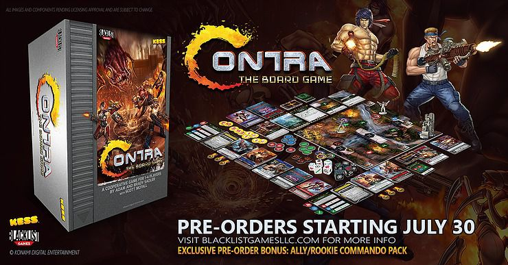 Everything Contra: The Board Game comes with