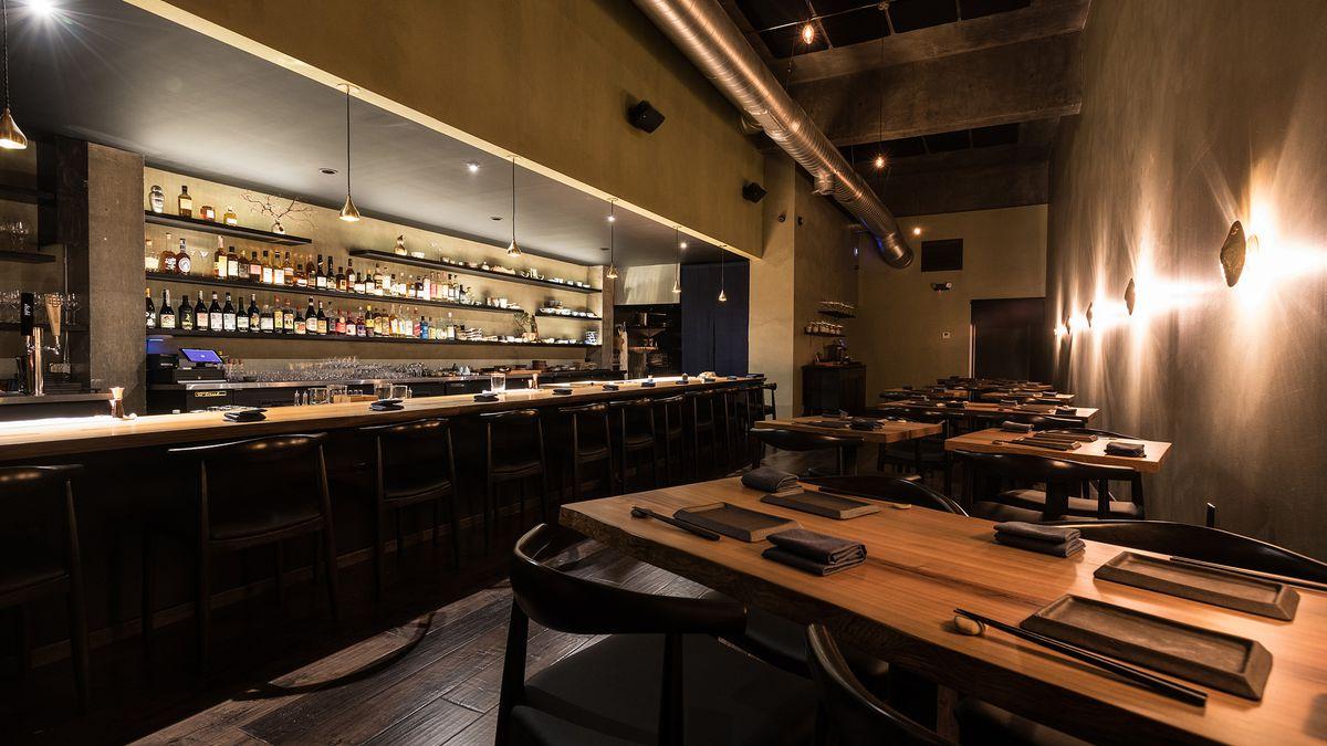 Interior of Shibumi restaurant.