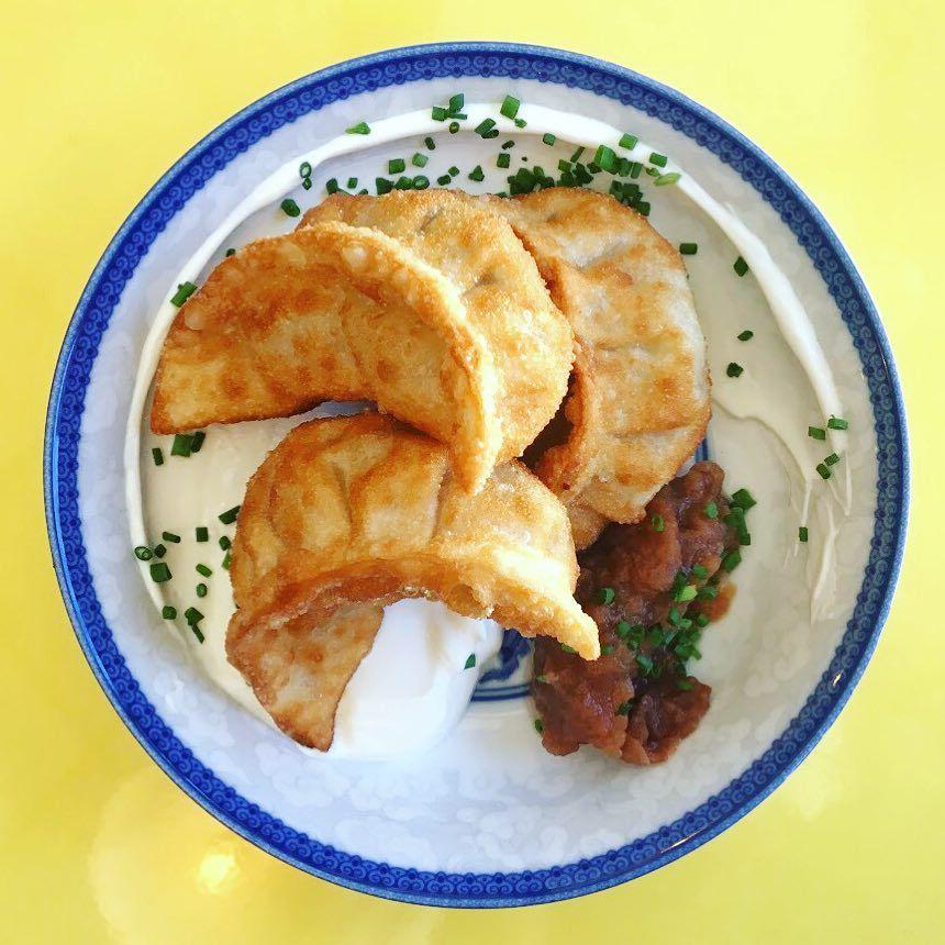 Pierogi dumplings at Mei Mei