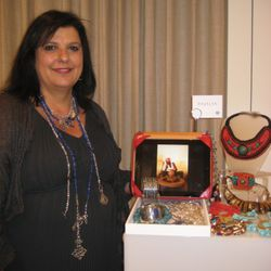 Debbie Farah and samples of her Bajalia collection