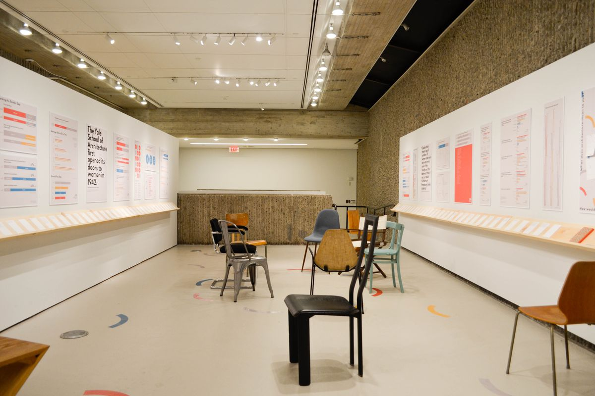 School Exhibition Stall Design : Yale architecture school exhibition questions gender disparity in