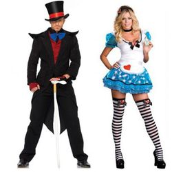 Evil Mad Hatter and Sexy Alice in Wonderland exist to make everyone else at the party reeeaaally uncomfortable.
