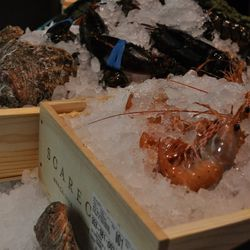 Seafood ready to cook at Tetsu.
