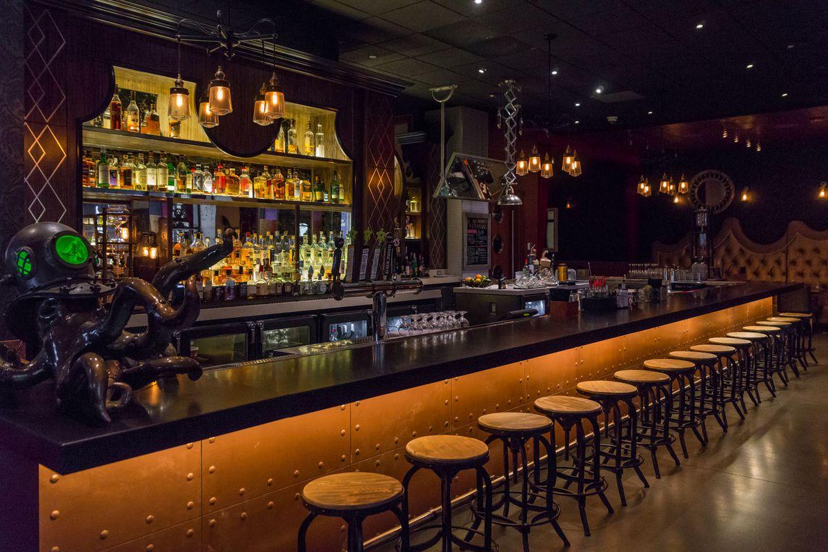 The bar at Rx Boiler Room