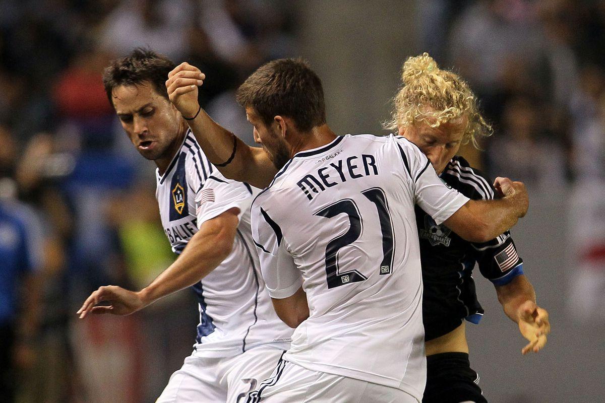 LA Galaxy's Tommy Meyer was the highest selected Big Ten graduate in the 2012 MLS SuperDraft