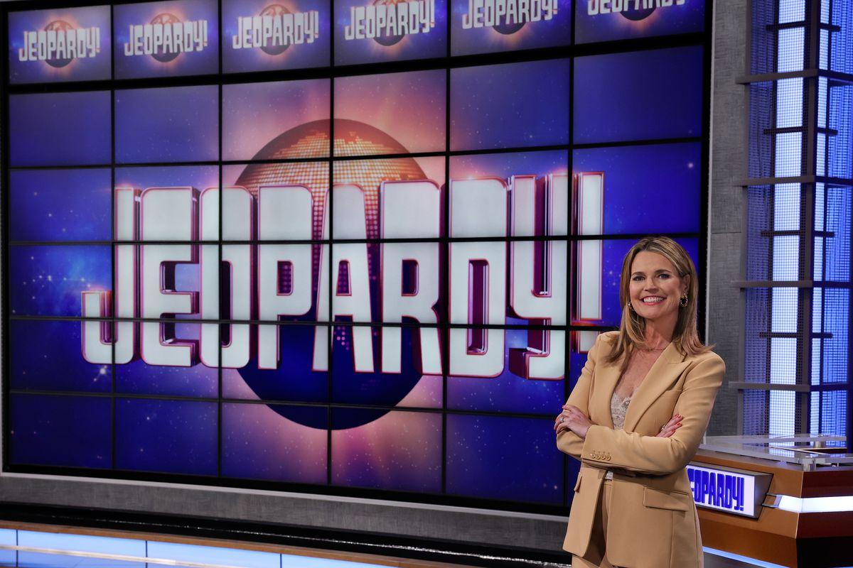 "Savannah Guthrie is the host of ""Jeopardy!"" through June 25."