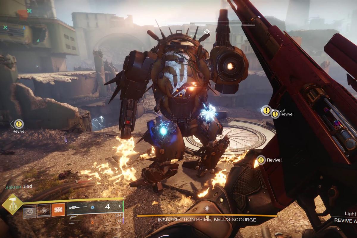 Destiny 2 Scourge Of The Past Raid Insurrection Prime Boss Fight