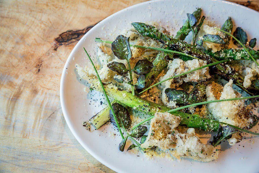An asparagus dish at Puritan & Co.