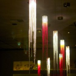 The hanging lights are a signature feature of every Kinjo restaurant