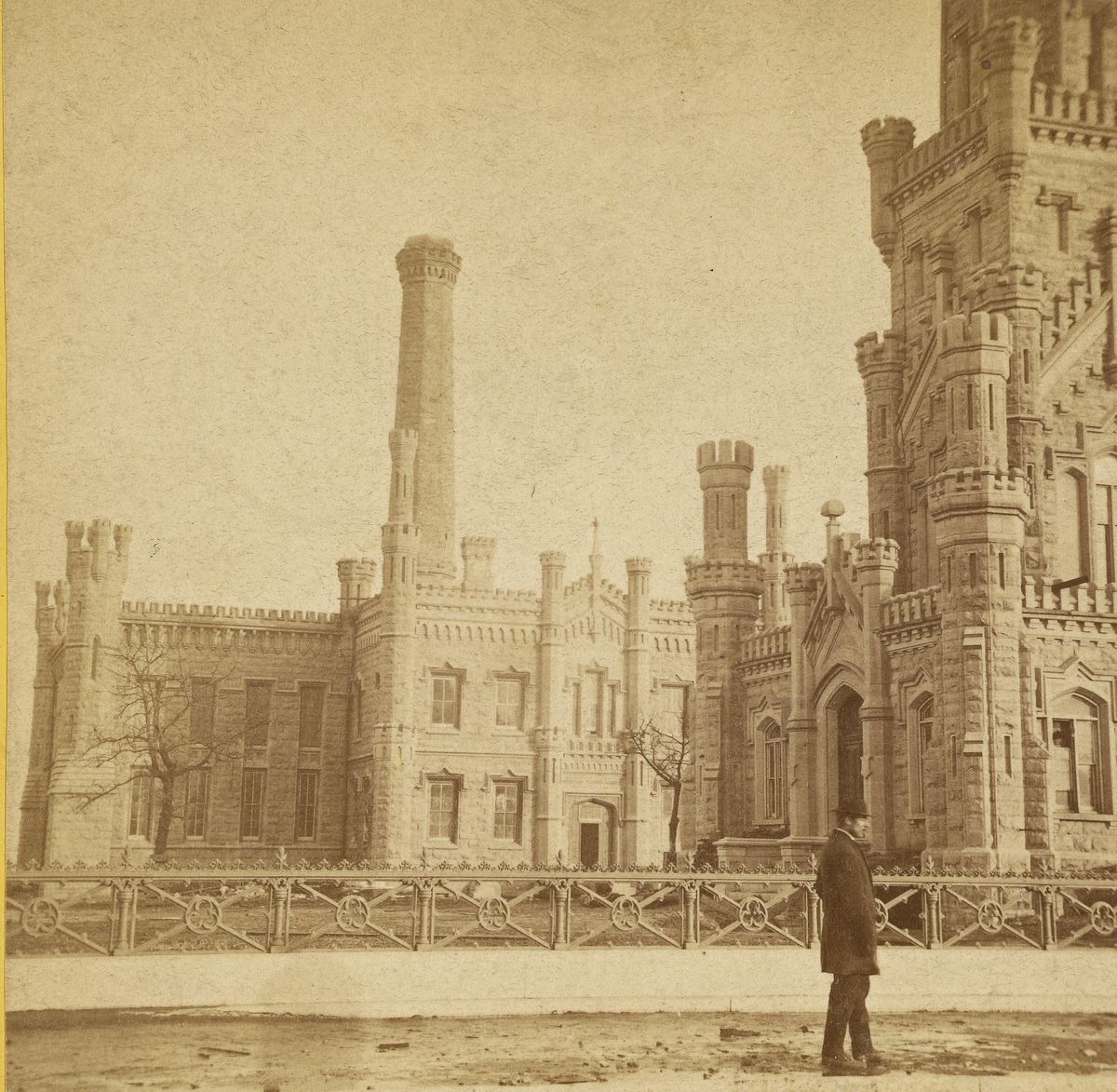 The Water Tower was among the few structures to survive the Great Chicago Fire.
