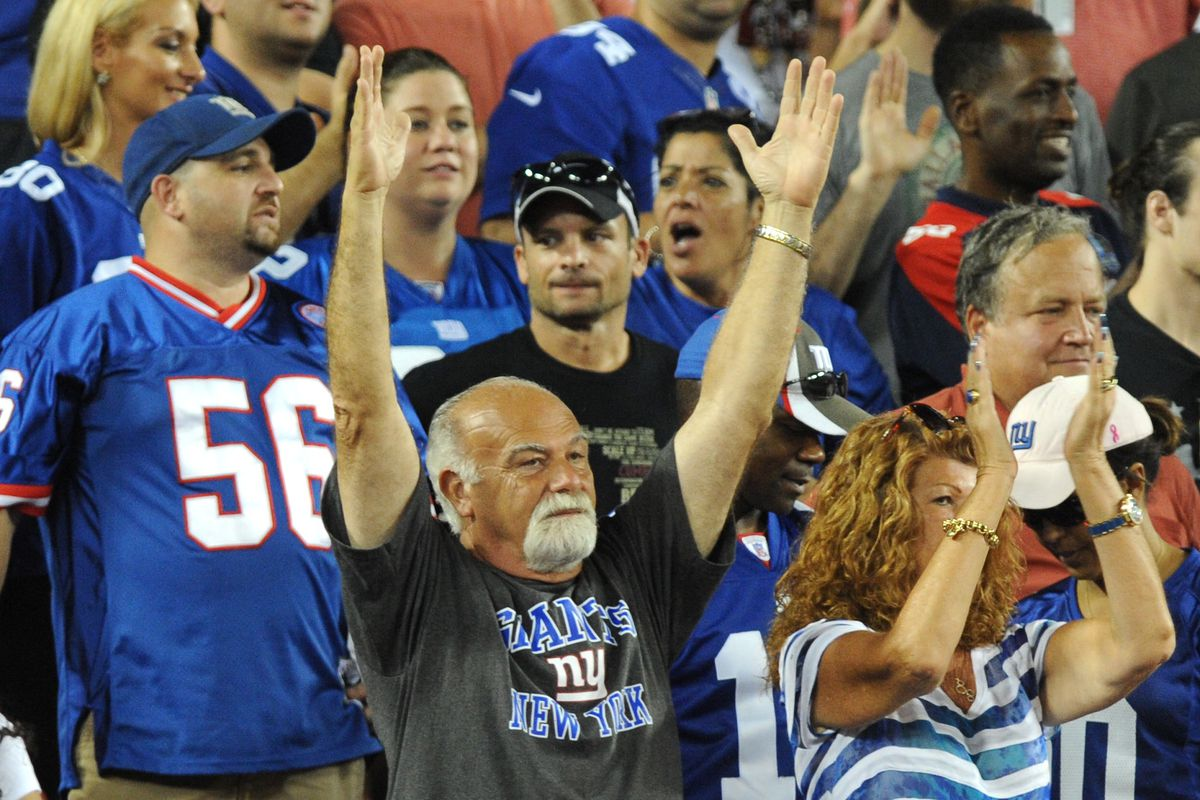 """""""Kudos"""" to Giants fans for turning out in droves Sunday in Tampa"""