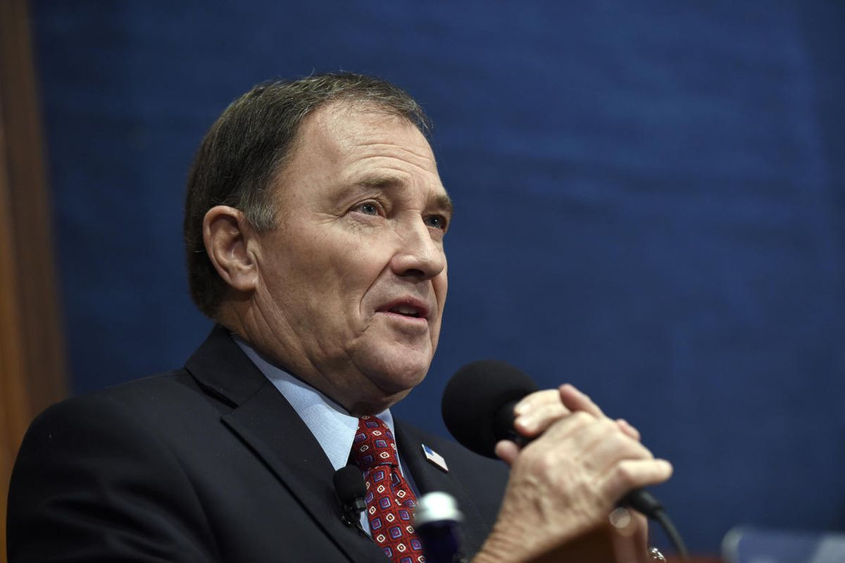 FILE - National Governors Association (NGA) Chair, Utah Gov. Gary Herbert gives a 'State of the States' address, Thursday, Jan. 7, 2016, at the National Press Club in Washington. Gov. Gary Herbert said Thursday, Jan. 21, 2016, that while medical marijuana