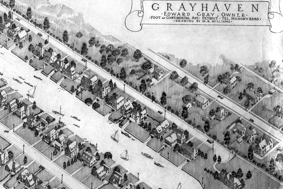 The original renderings for Grayhaven were never fully realized