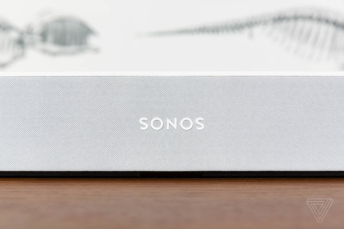 Sonos Beam Review Living Room Upgrade The Verge If High Is Negative Switching You Simply Need To Wire Up As When Flip On Your Tv Automatically Switches Play Audio Want Music Can Ask Alexa Which Works With Amazon