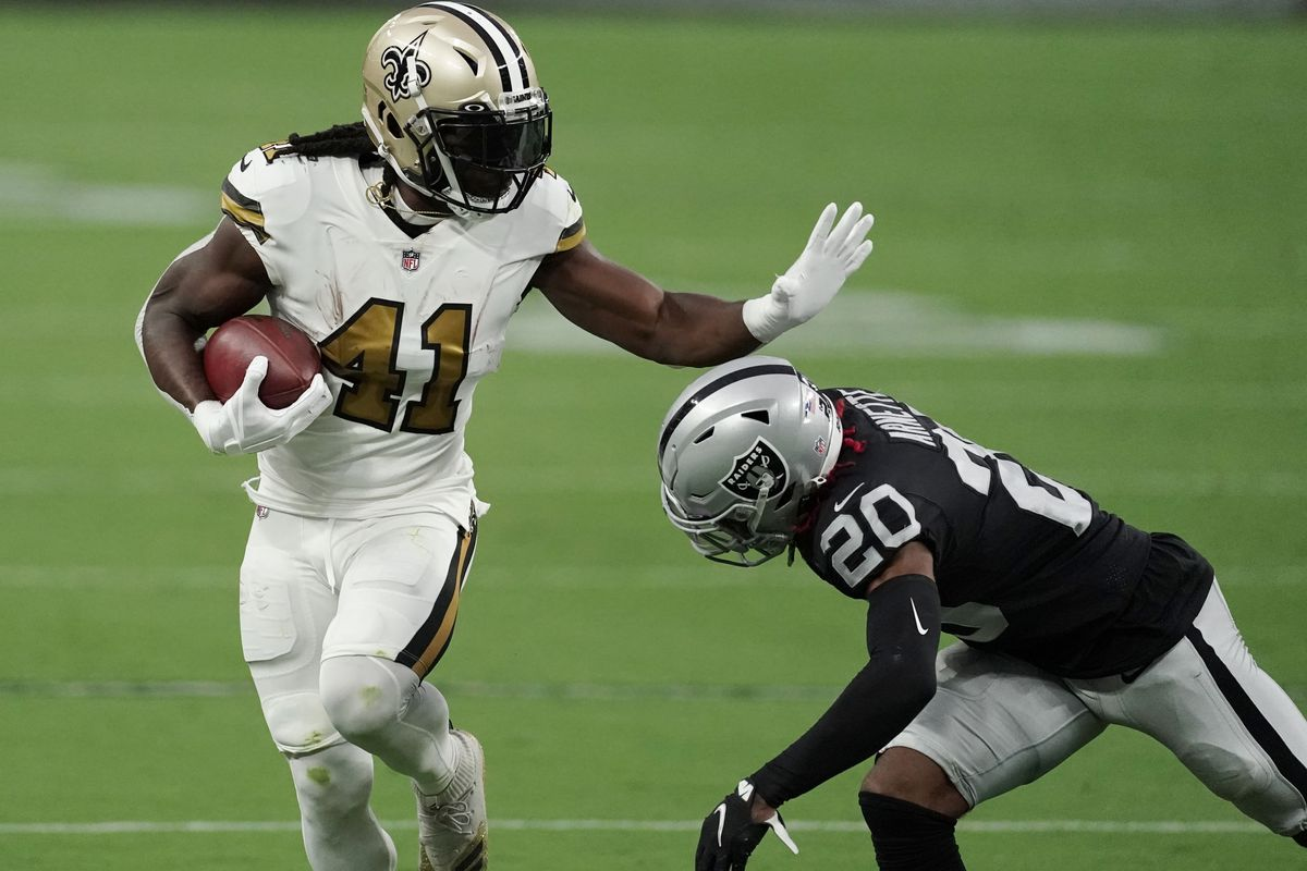 Alvin Kamara injury update: Saints RB returns to practice on Thursday, but  dealing with foot injury - DraftKings Nation
