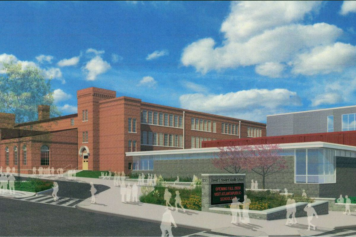 A architect rendering of a beautiful, renovated Howard Middle School.