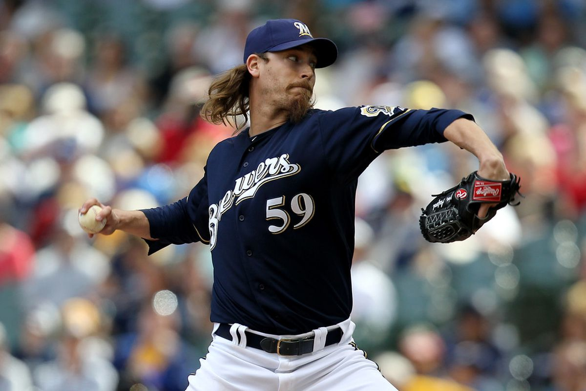 Here's John Axford recording Brewer save #8 on Wednesday.
