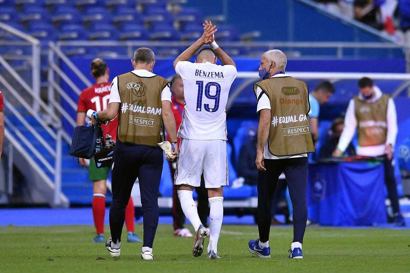 Deschamps reveals Benzema?s injury is ?a knock?