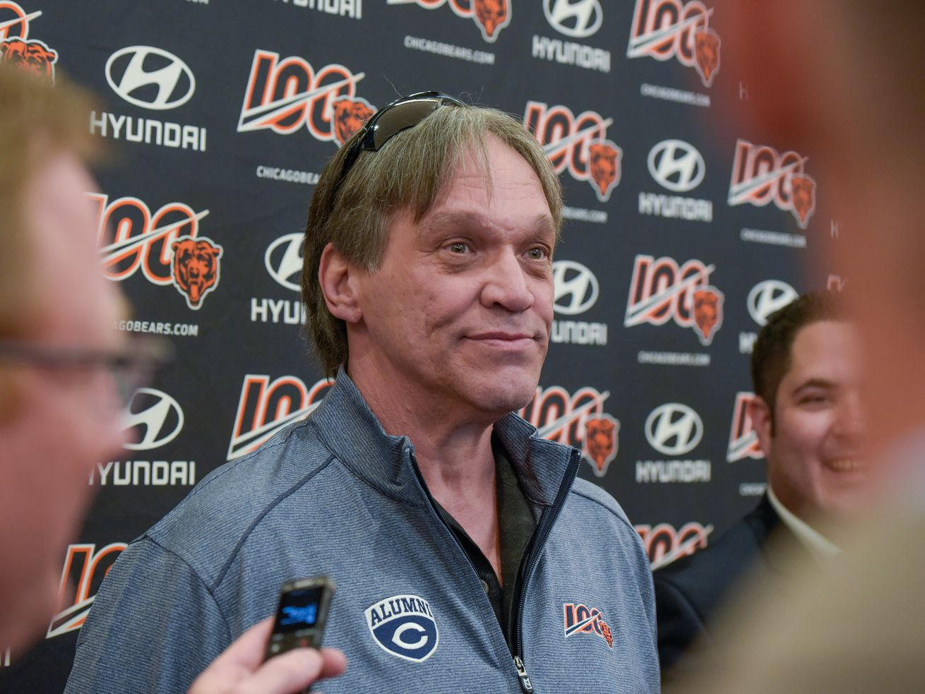 Steve McMichael at the Bears celebration of their 100th season in June 2019.