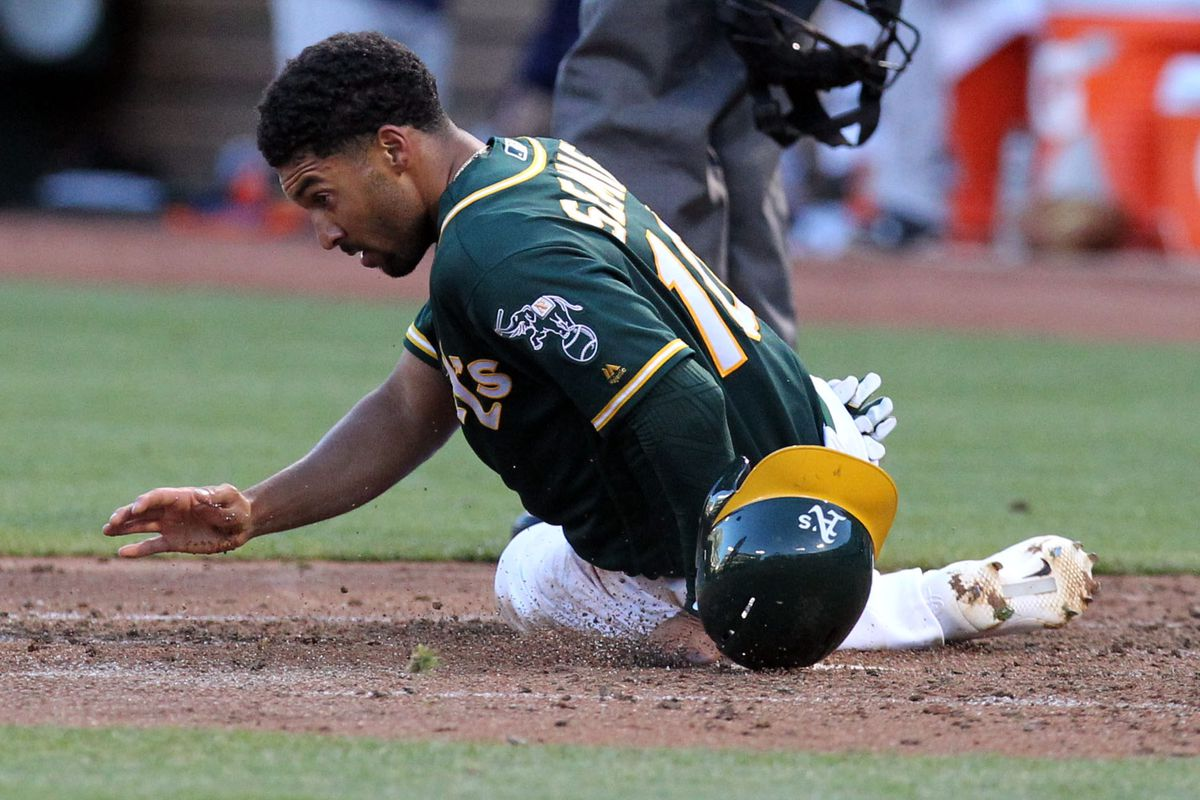 It's important to clean the plate after touche by Semien.