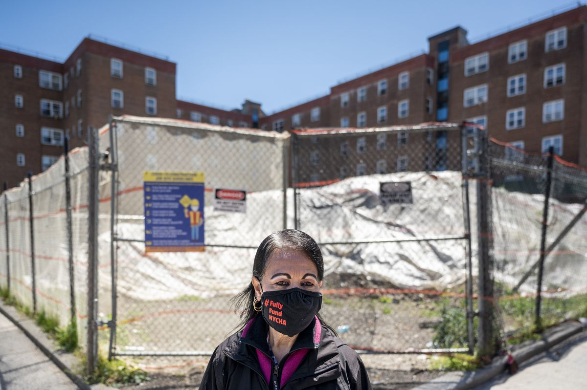 Juana Narvaez, 67, a resident of the Red Hook Houses for over 45 years.
