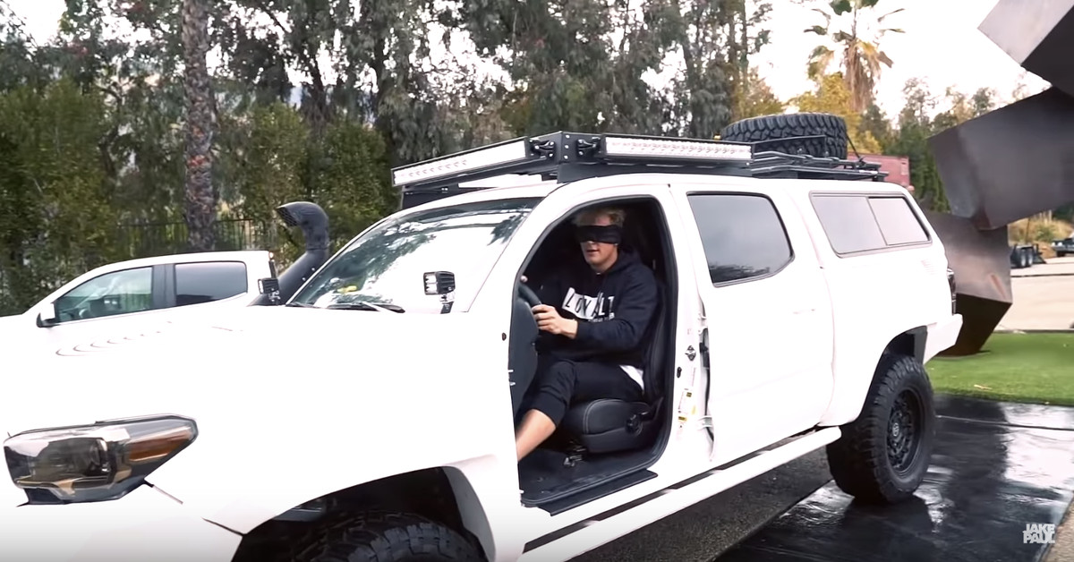 Truck Accessories Store >> Jake Paul shows off dangerous stunts for Bird Box ...