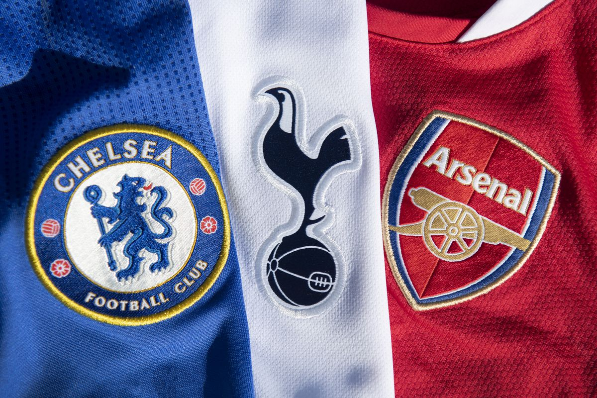 The Chelsea, Arsenal and Tottenham Hotspur Club Crests