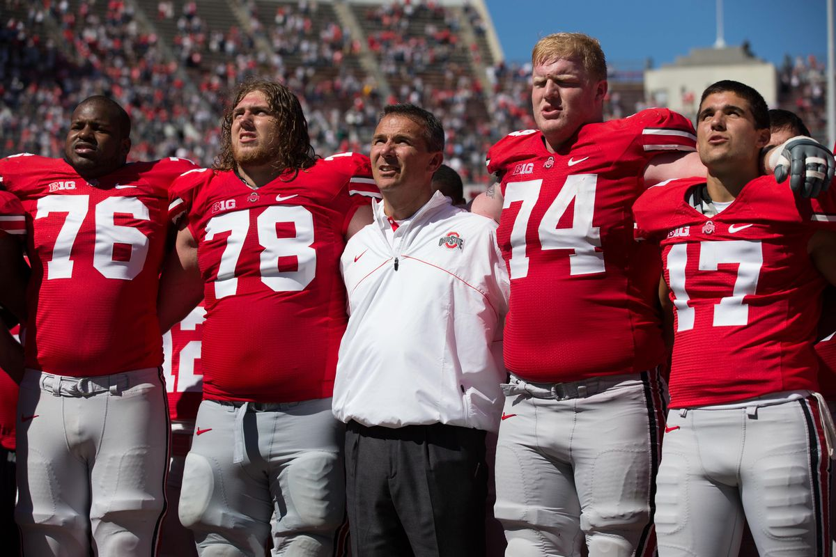 The two most underrated linemen in college football next to their coach.