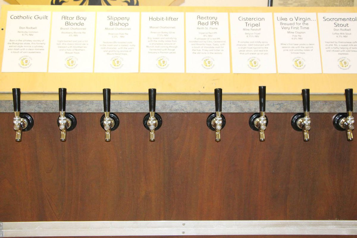 Just but a few homebrews available at Crescent City Homebrewers' Winterfest this weekend.