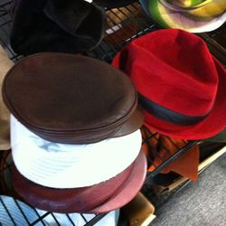 Hermes goes Hipster with leather chauffeur's caps and fedoras