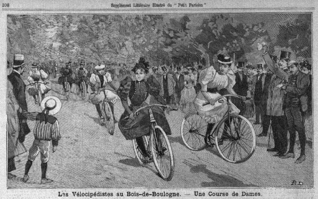 An inventive depiction of the Course d'Artistes from 'Le Petit Parisien - Supplement Littéraire Illustré', June 1893.