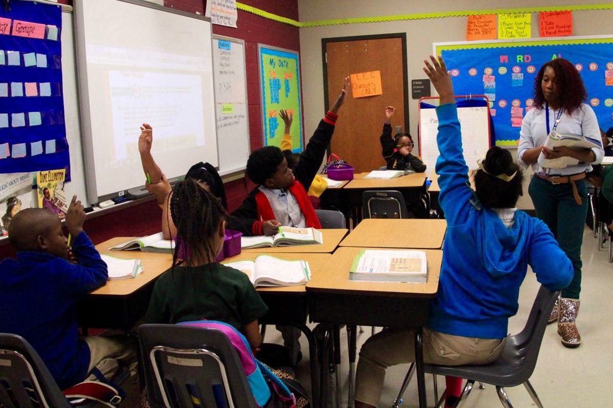 Alexia Young teaches third-graders at Lucie E. Campbell Elementary School in Memphis, where she also doubles as the dance coach.