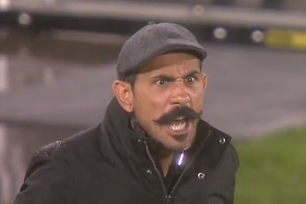Angry hipster Pablo watched a first half of soccer that wouldn't have beaten a Norweigian fourth division side.