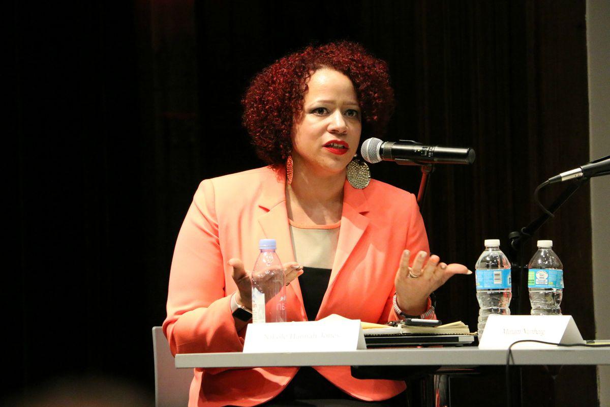 Journalist Nikole Hannah-Jones moderated the panel.