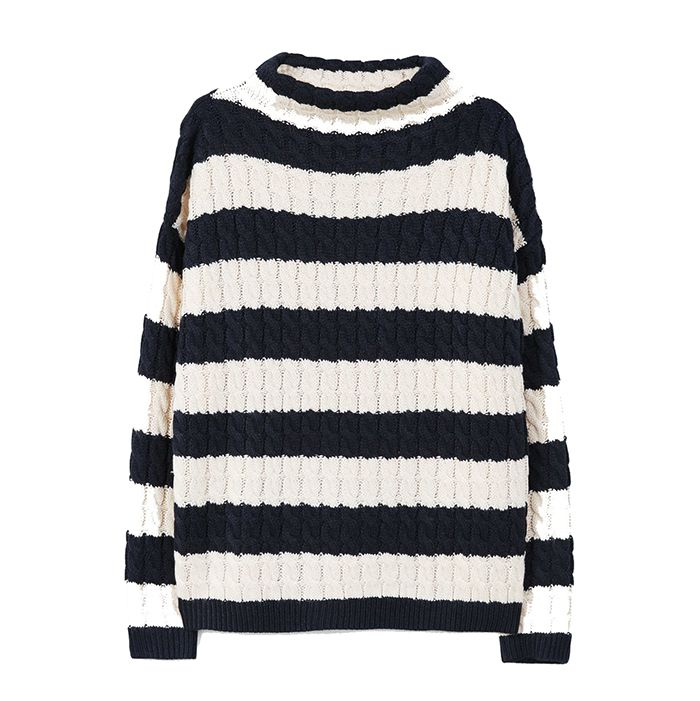 Mango striped knit sweater