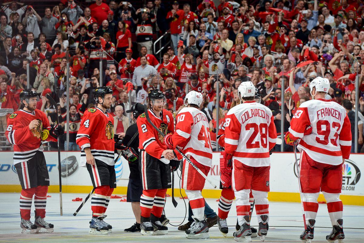 Detroit Red Wings v Chicago Blackhawks - Game Seven