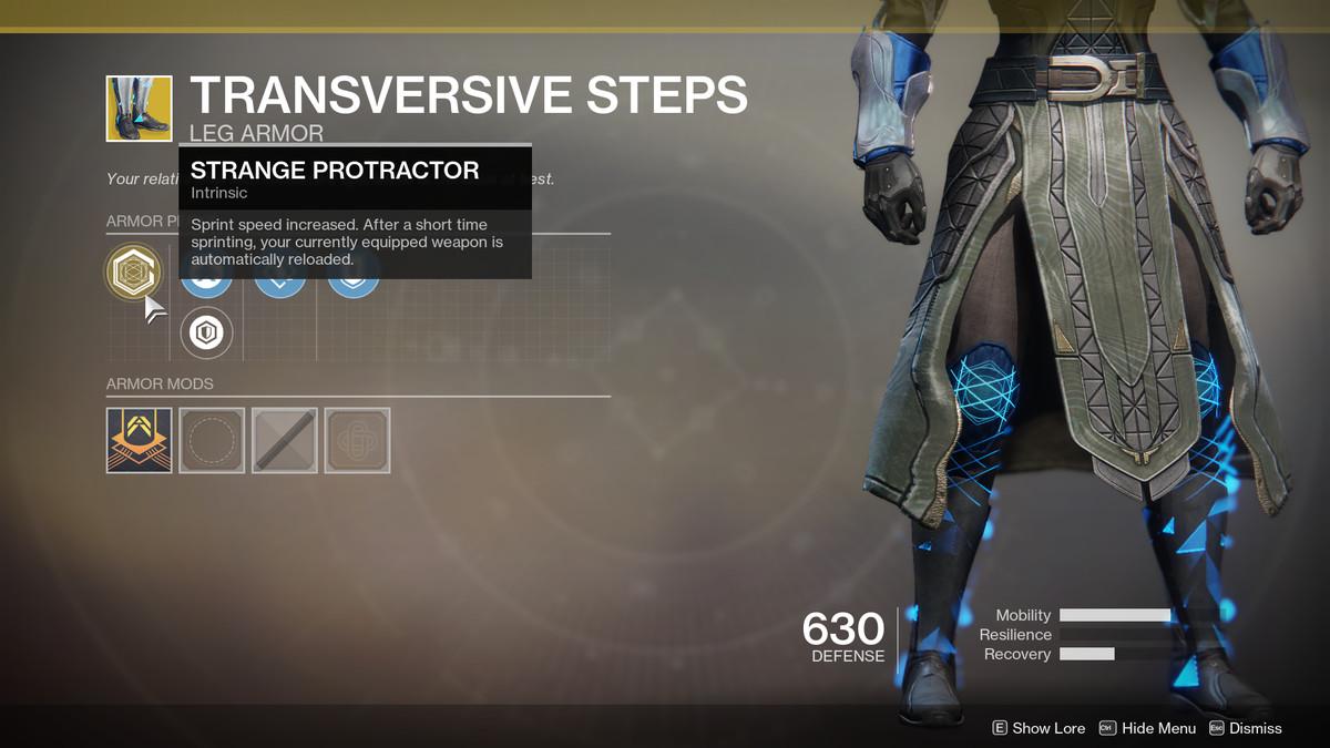 Transversive Steps Exotic Destiny 2