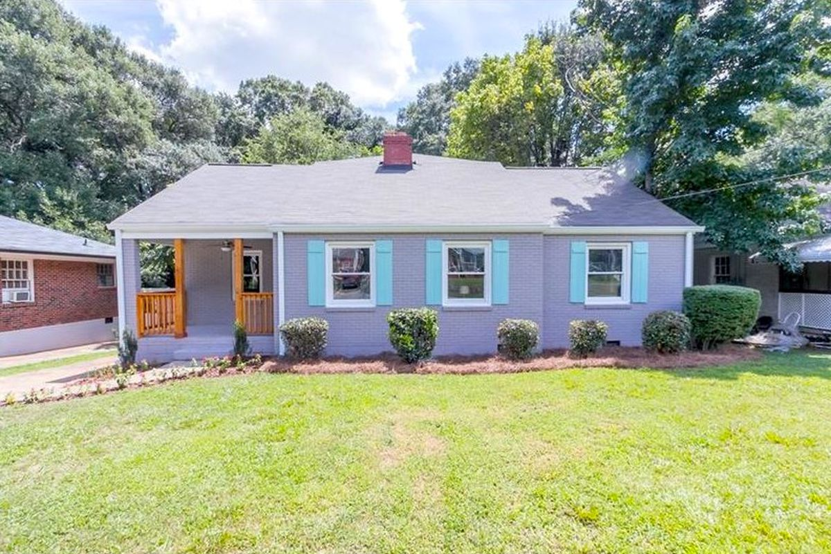 A renovated bungalow for sale in Atlanta's Capitol View Manor neighborhood.
