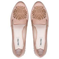 "<b>Miu Miu</b> embroidered satin slippers, <a href=""http://www.miumiu.com/en/US/e-store/dep/shoes/cat/slippers/product/5S8497_049_F0A48_F_015#"">$650</a>"