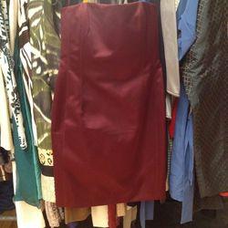Lanvin strapless silk dress, $549