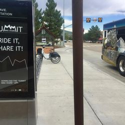 At the Park Avenue station in Park City, three out of 15 electric bikes remain available for rent.