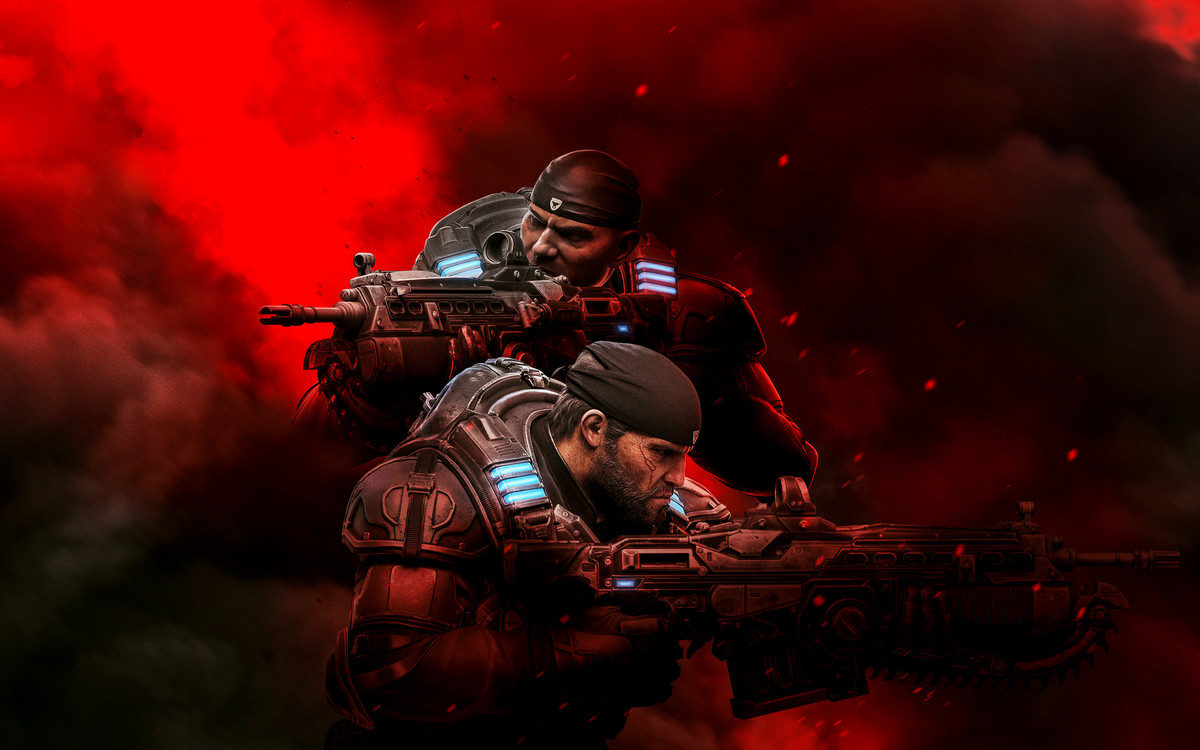 "Screen image from the ""Gears of War"" video game"