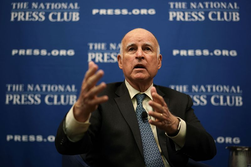 California Governor Jerry Brown Speaks At The National Press Club