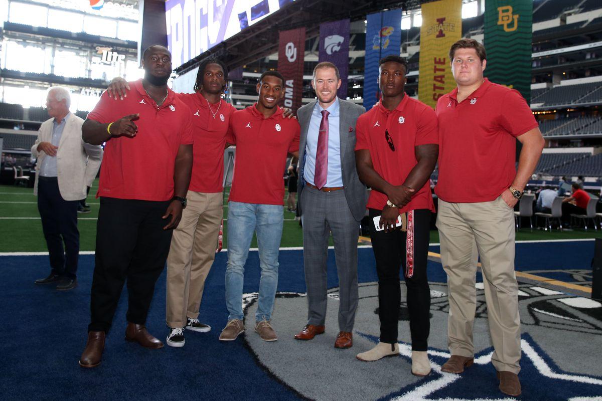Oklahoma Football at Big 12 Media Days: Lincoln Riley, Kenneth Murray, CeeDee Lamb, Creed Humphrey and Nevill…