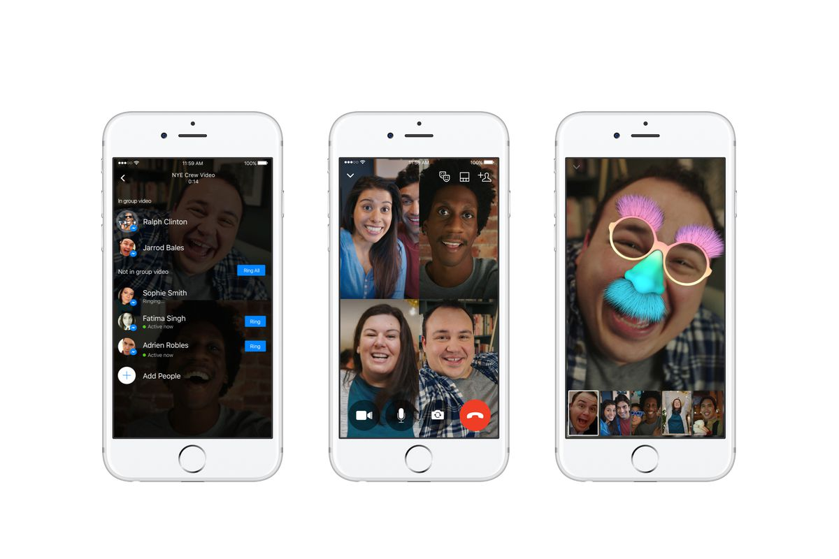 Facebook Messenger now lets you video chat with up to 50 people