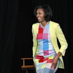 """Michelle Obama in Preen via <a href=""""http://mrs-o.com/newdata/2012/6/5/pixel-prints-and-ombre-florals.html"""">Mrs.O</a>"""
