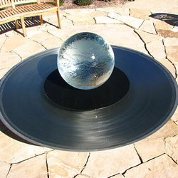 An unusual water feature is a focal point at the teaching garden at the Utah Botanical Center in Kaysville.