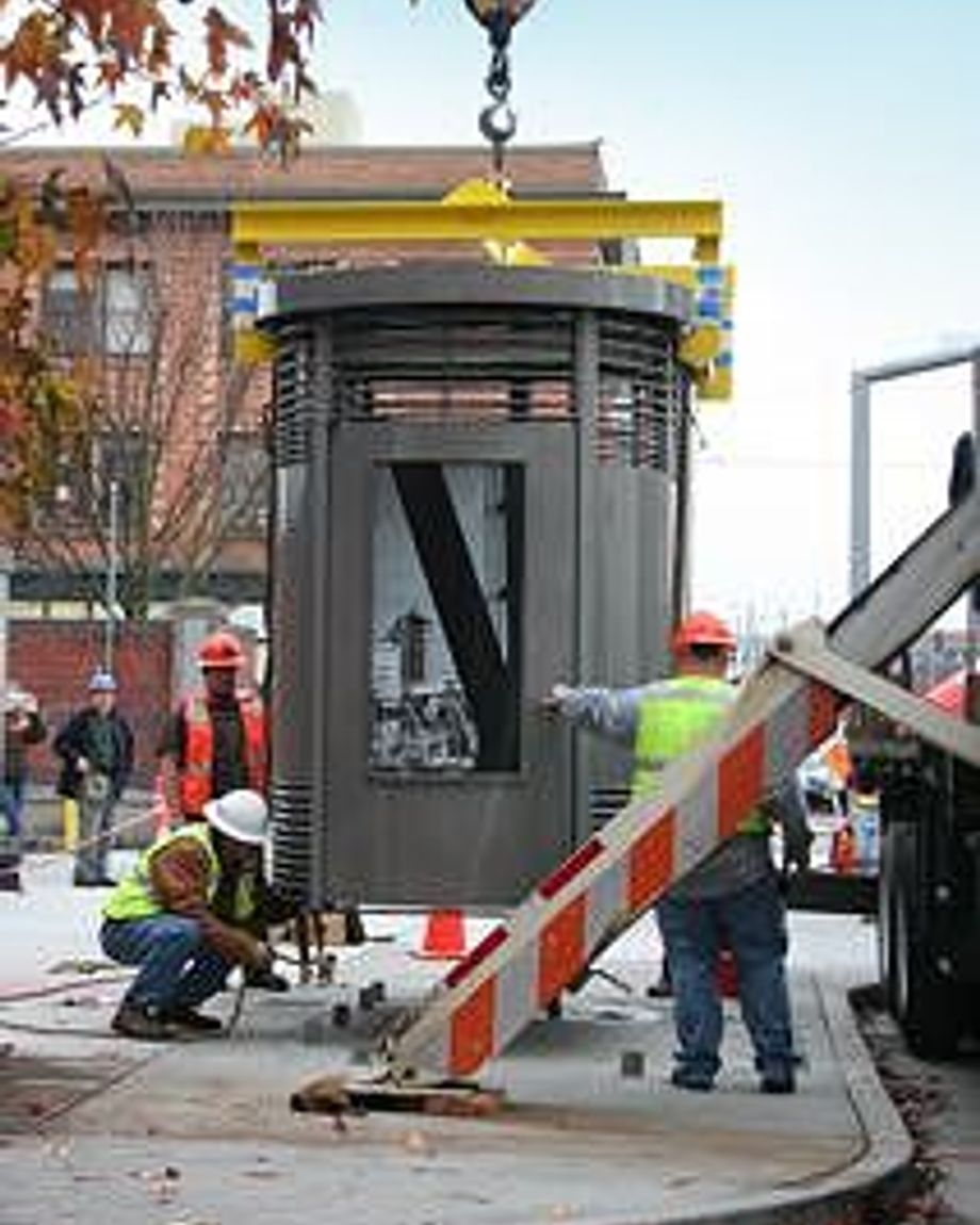 The Portland-Loo is installed on a street corner in Rip City.